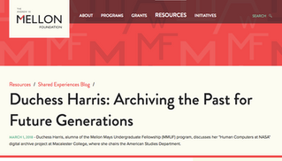 Duchess Harris: Archiving the Past for Future Generations
