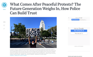 What Comes After Peaceful Protests? Harris Weighs in on KPCC