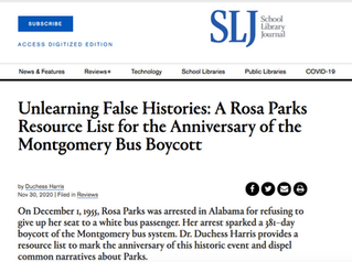 Unlearning False Histories: A Rosa Parks Resource List for the Anniversary of the Montgomery Bus Boy
