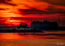 Sunset on the Delaware - Brian Maniglia