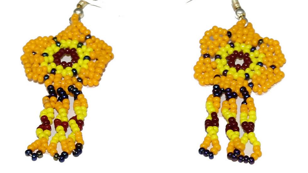 Aretes chicos de flor
