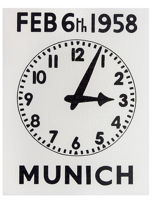 Flowers of Manchester / Manchester  United Clock