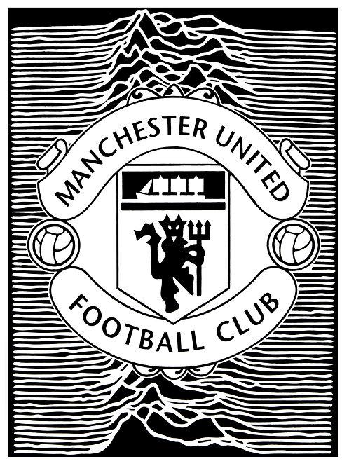 Manchester United Unknown - Black & White Print
