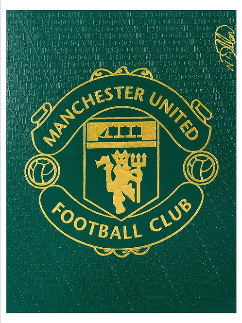 Manchester United Crest - Green