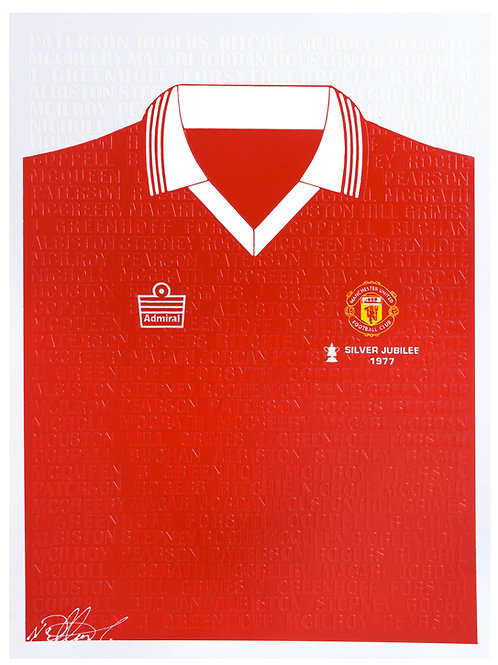 Manchester United Silver Jubilee 1977 Shirt (with every player)