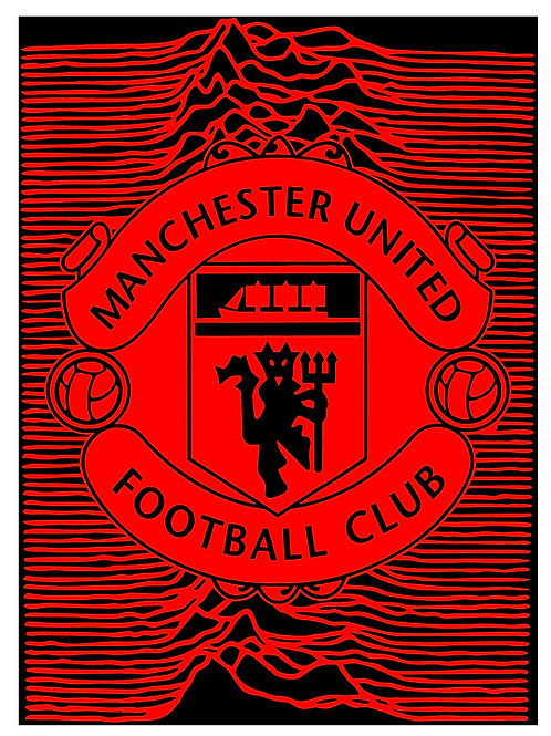 Manchester United Unknown - Red & Black Print
