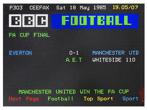 Ceefax page 1985 Cup Final Cup Run Original