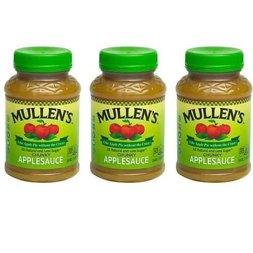 Three Pack Mullen's Applesauce Reduced Sugar Recipe