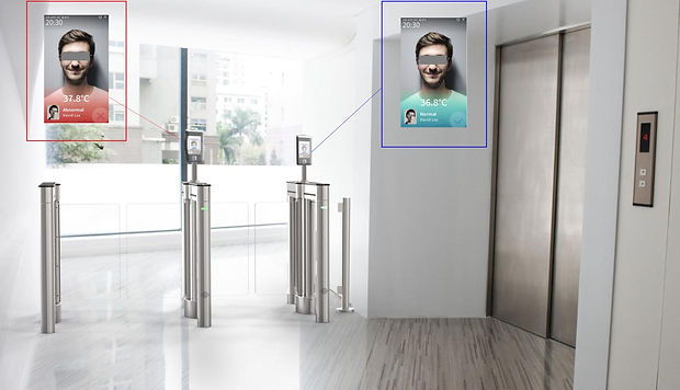 Facial Recognition Temperature Turnstile