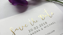 Gold Foil Mini Save the Date Invites