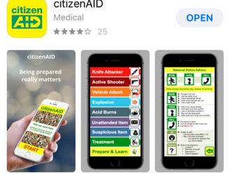 Version 2 of citizenAID - Number 1 trending medical APP