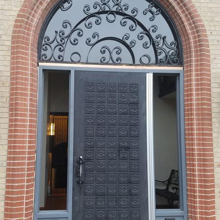 Custom Installation - Wooden Door