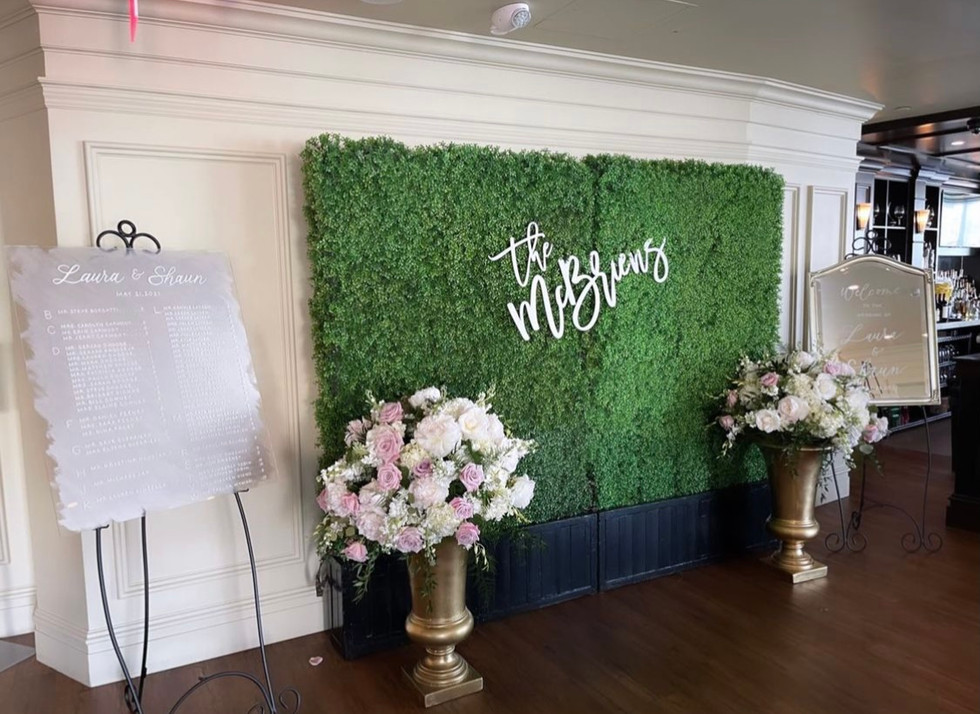 The McBriens - Seating Chart & Welcome S