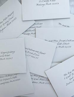 Modern Font Wedding Envelope
