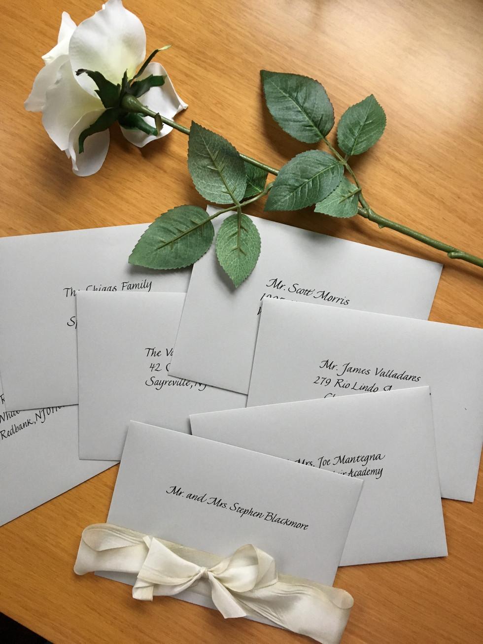 Traditional Italic Wedding Envelopes