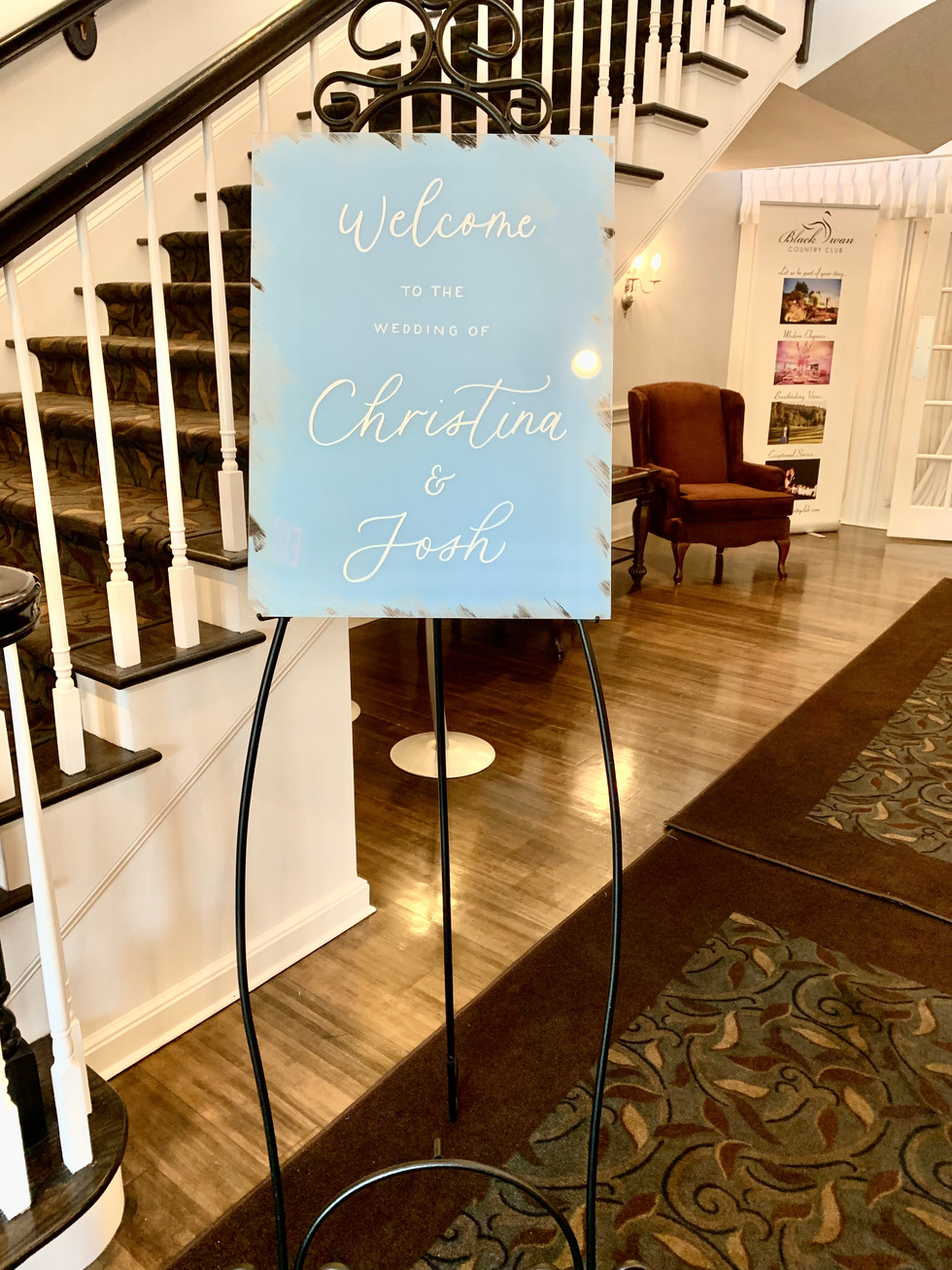 Welcome Sign Acrylic