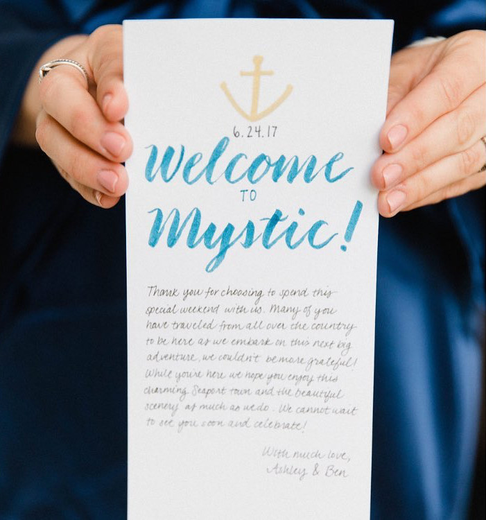 Welcome to Our Wedding Note