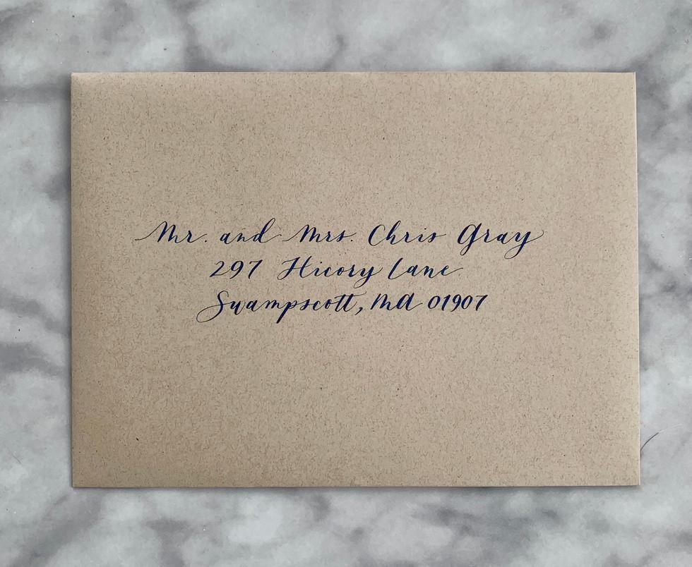 Modern Font Envelope