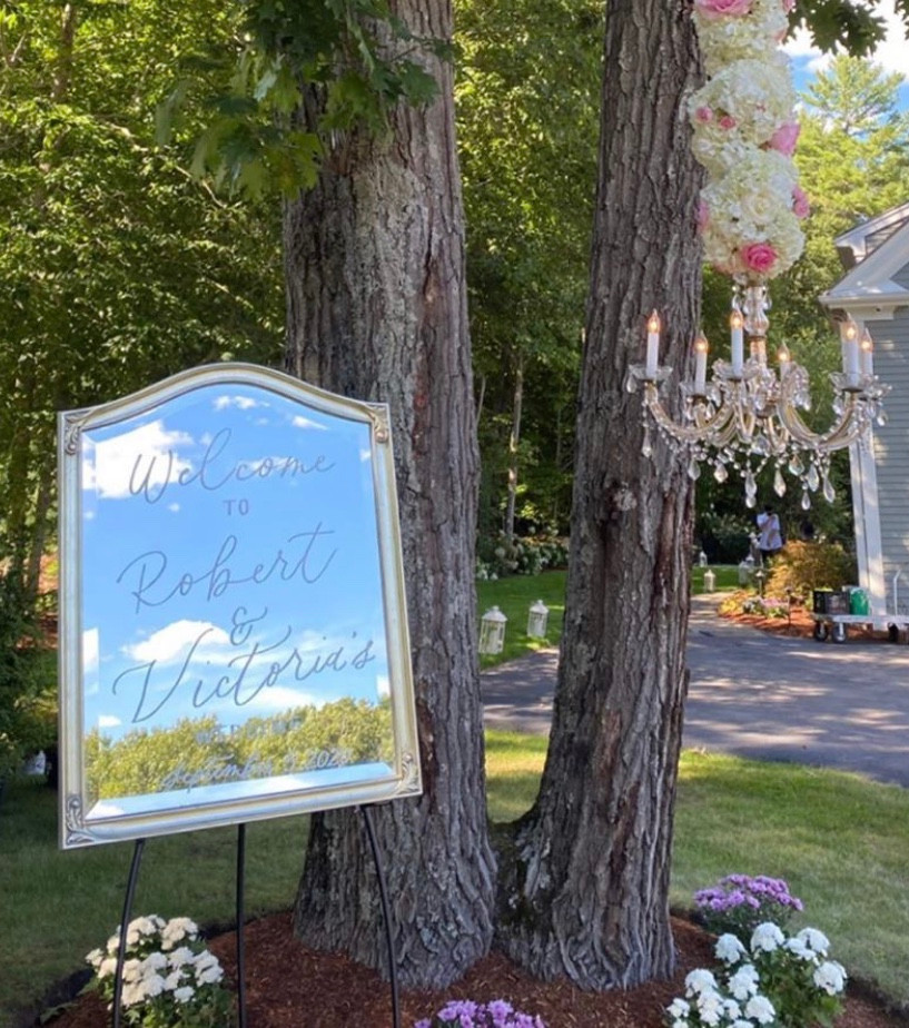 Welcome to our Wedding Mirror Sign