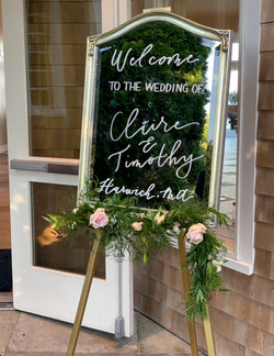 Welcome to Our Wedding Mirror