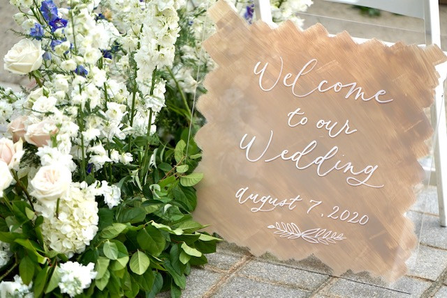 Welcome To Our Wedding Sign (Alex Gordia