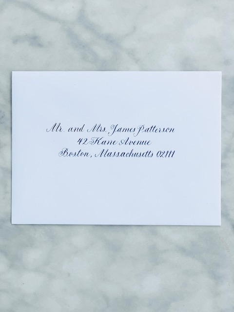 Copperplate Font Envelope