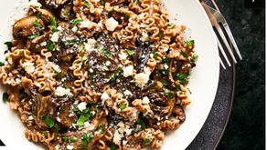 Farro Mafaldine with Black Truffle Butter and Mushrooms