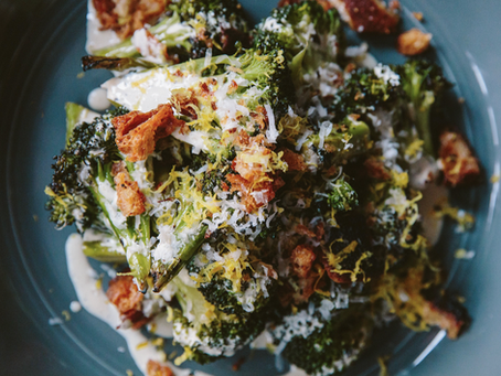 Grilled Broccoli Caesar Salad