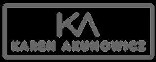 KAREN AKCUNOWICZ LOGO_KA_Full_Logo_Gray_