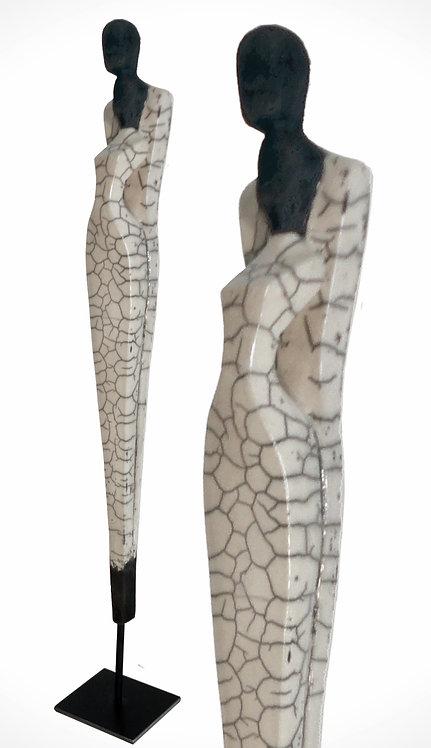 Dualis 1, glasiertes Raku, 70 cm