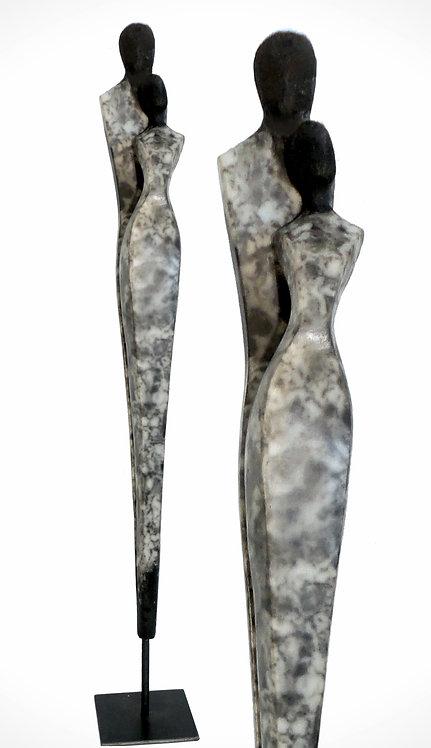Dualis 1, naked Raku, 70 cm