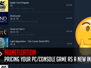 Pricing your PC/console game as a new indie developer