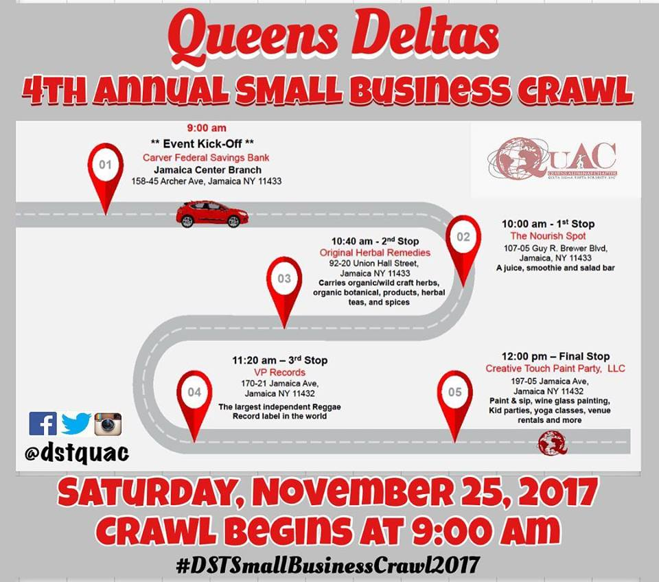 Small Business Crawl Map