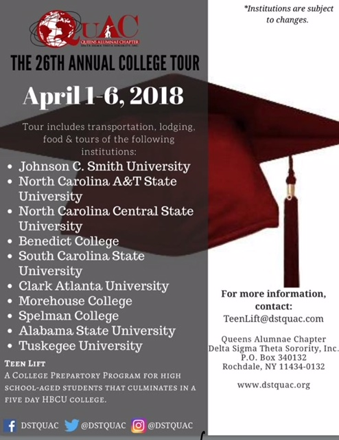 QuAC 26th Annual College Tour