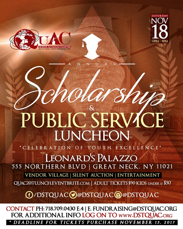 QuAC Scholarship Luncheon Flyer