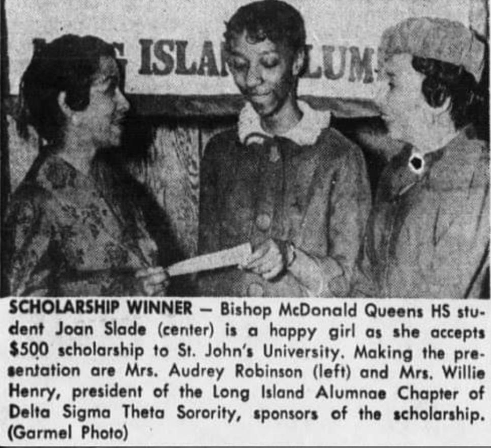 Scholarship press release 1959