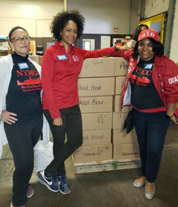 Food Bank for NY packing 2019