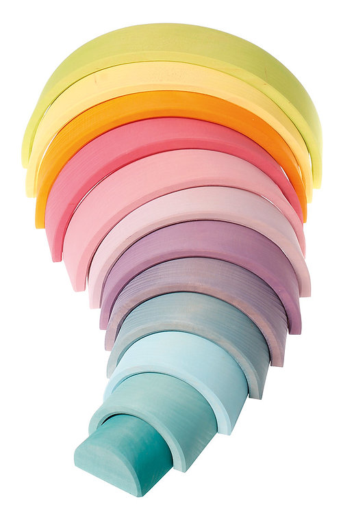 Grimm's Pastel wooden tunnel Large