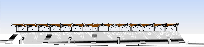 RL_אצטדיון OP4 - 3D View - מבט חזית טריב
