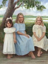 Green Girls Oil on Linen