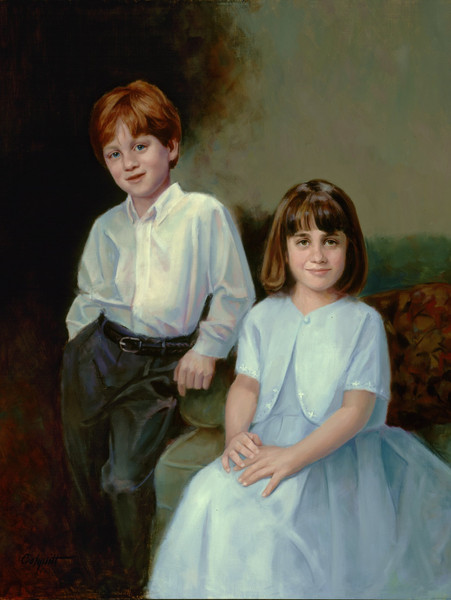 "Benjamin and Grace Oil on Linen 38"" x 34"""