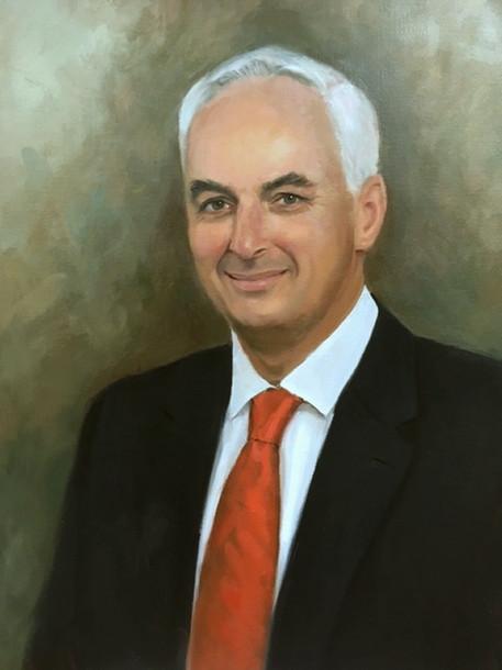 Dr. Peter F. Buckley, Dean Medical College of Georgia Augusta, Georgia Oil on Linen