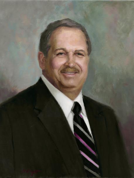 Daniel Stanley, President Thomas & Hutton Engineering Oil on Linen
