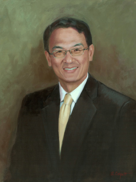 Dr. Lin Mei, Professor Department of Neuroscience & Regenerative Medicine Medical College of Georgia Oil on Linen