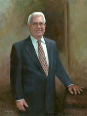 Dr. Robert A. Burnett, President  Armstrong University Savannah, Georgia Oil on Linen