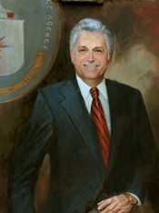 Jack A. Mangham (posthumous) CIA Oil on Linen
