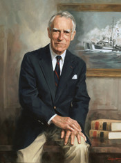 """The Honorable Malcolm MacLean Former Mayor, City of Savannah Oil on Linen 36"""" x 30"""""""