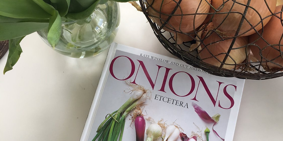 L2 Onion Bialys, Onion & Apple Jam, Poached Eggs