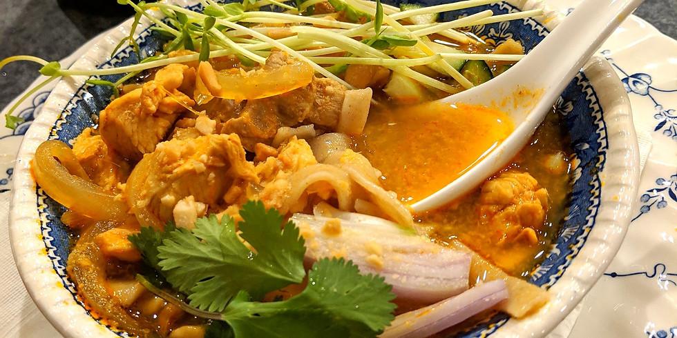 Thai Curry Noodles + Matcha Chia Pudding