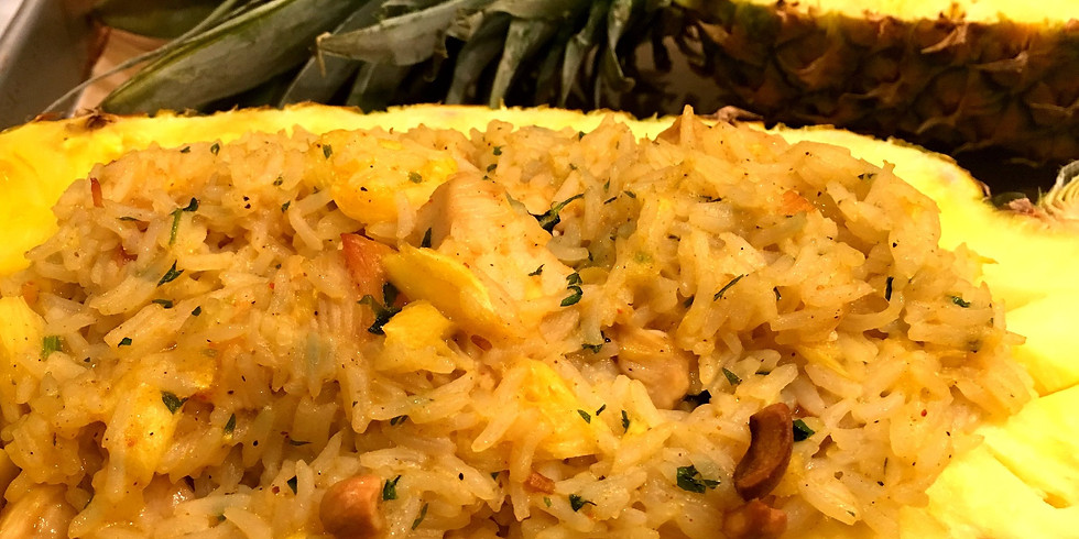 Chicken & Pineapple Baked Rice - Thai Cooking